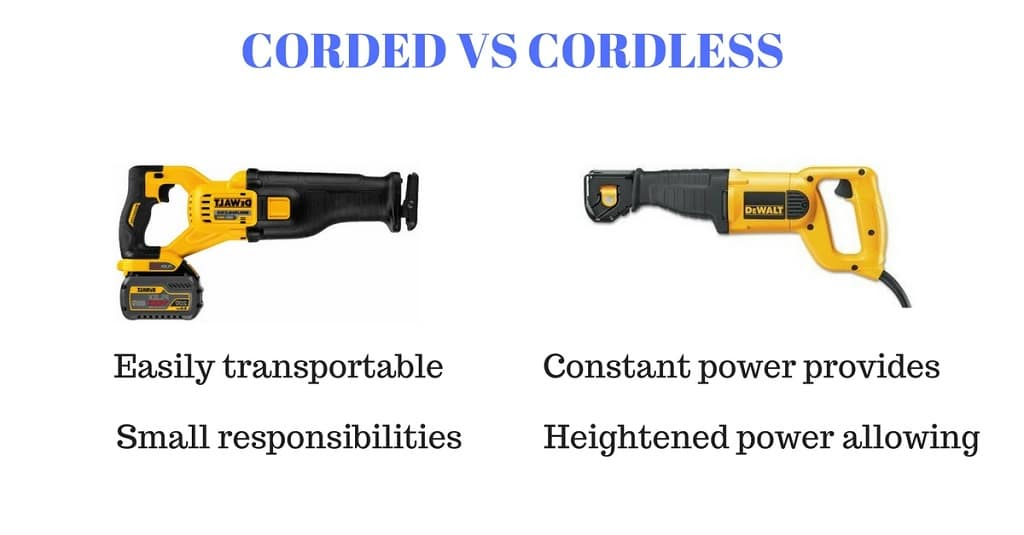 corded vs cordless reciprocating saw