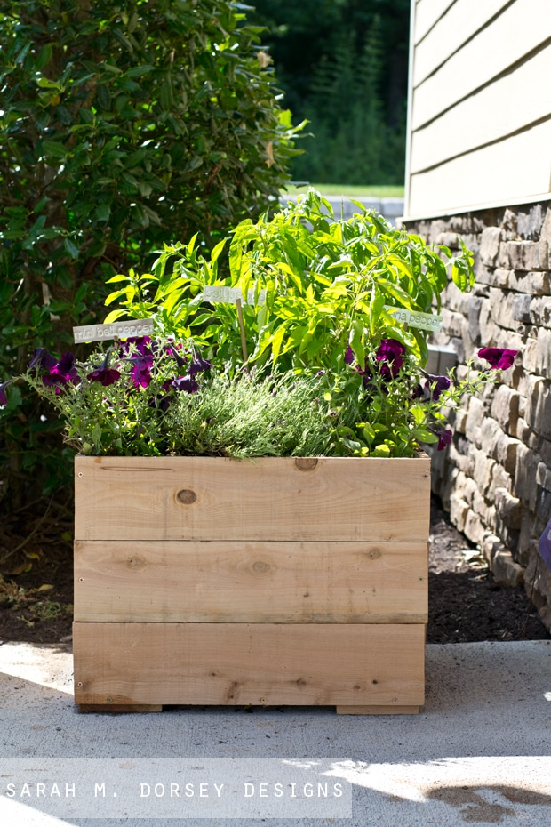DIY Cedar Planter