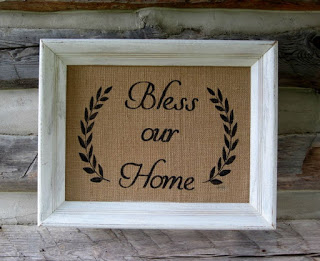 Framed Burlap Sign