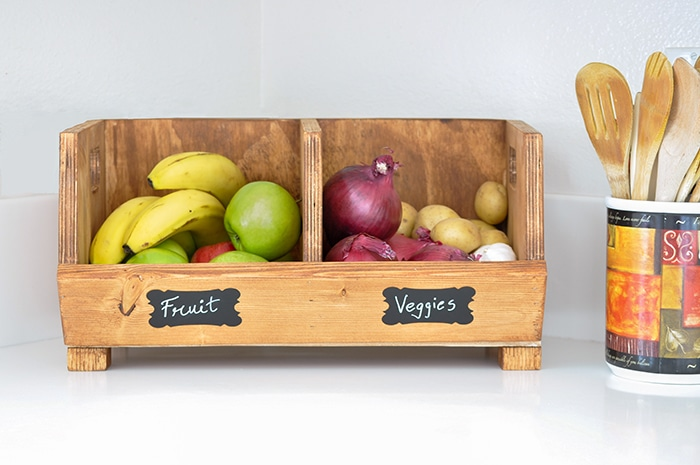 Vegetable Storage Bin With Divider
