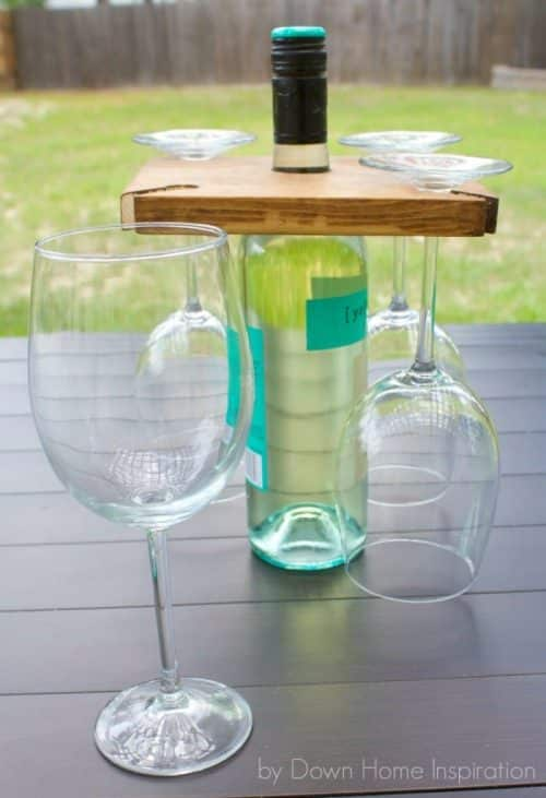 DIY Glasses and Wine Bottle Holder