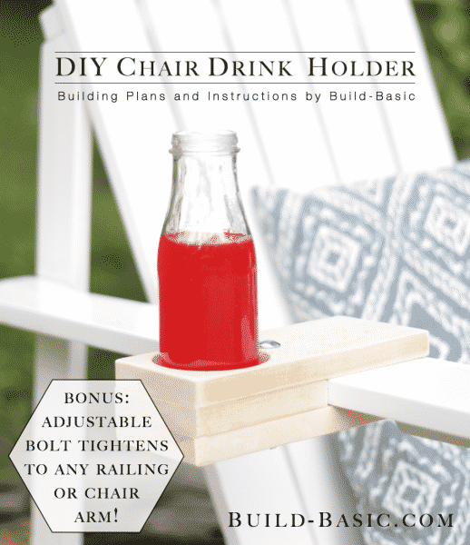 DIY Chair Drink Holder