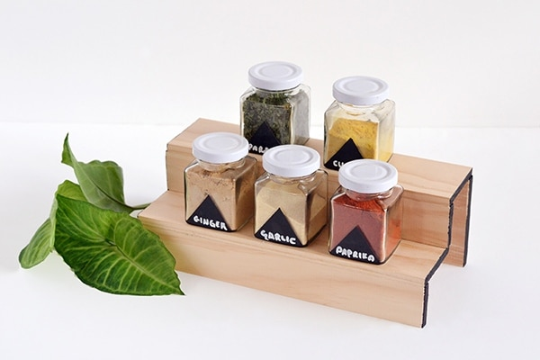 Minimal Wood Spice Rack