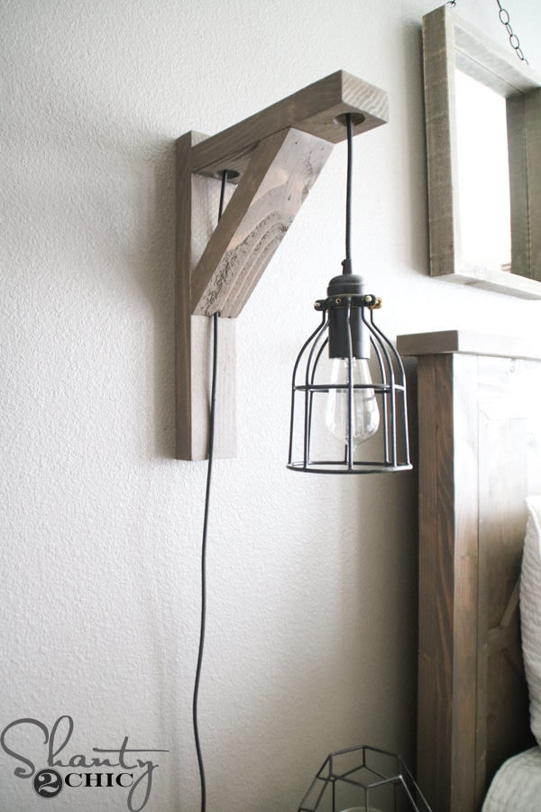 DIY Corbel Sconce Lights