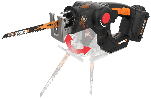 WORX WX550L 20V AXIS 2-in-1 Reciprocating Saw and Jigsaw