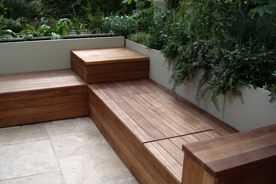 Deck Bench with Storage
