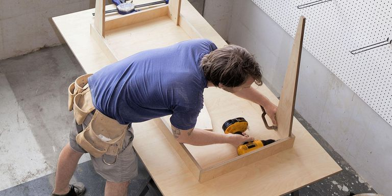 building table from plywood
