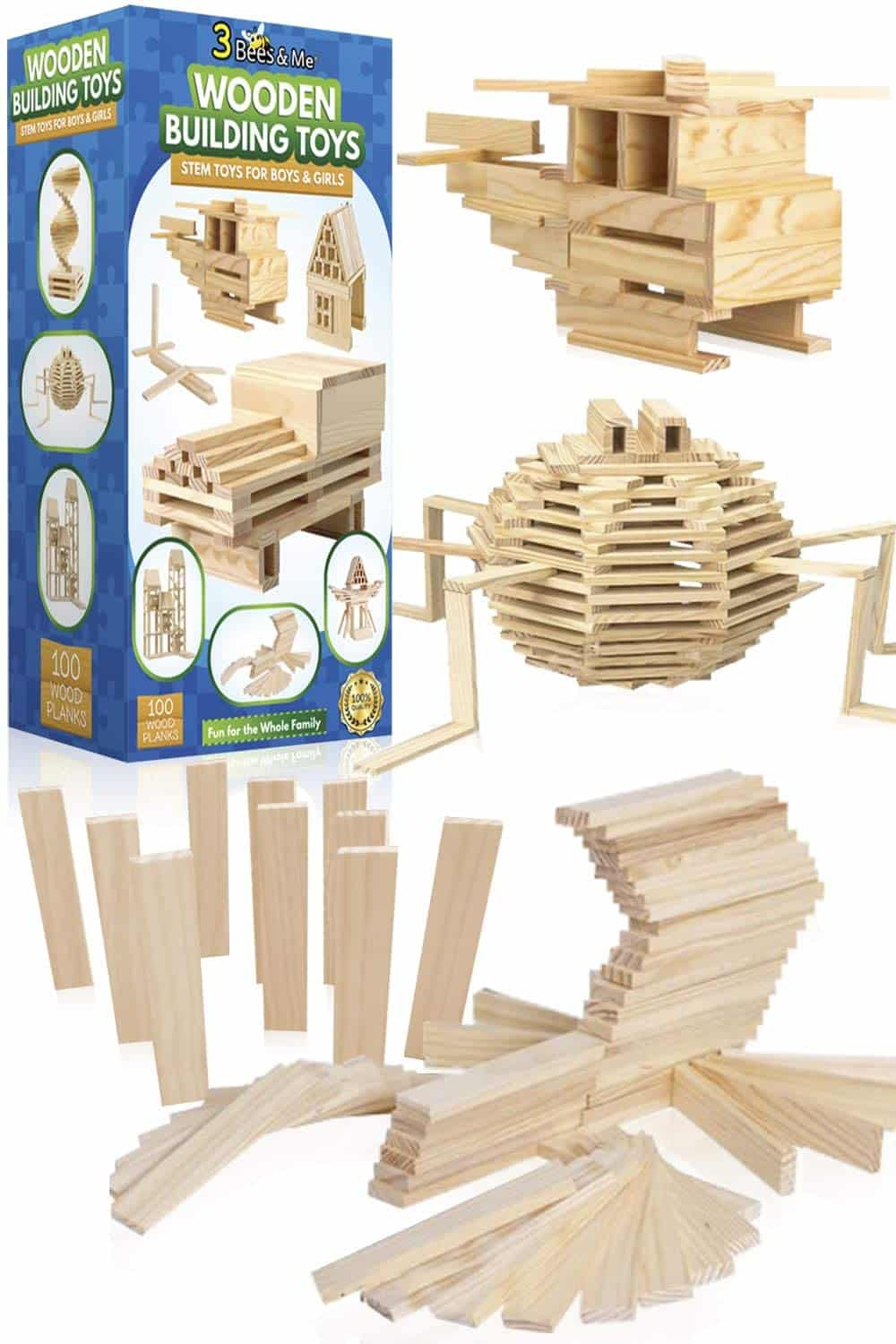 3 Bees & Me Wooden Building Toys