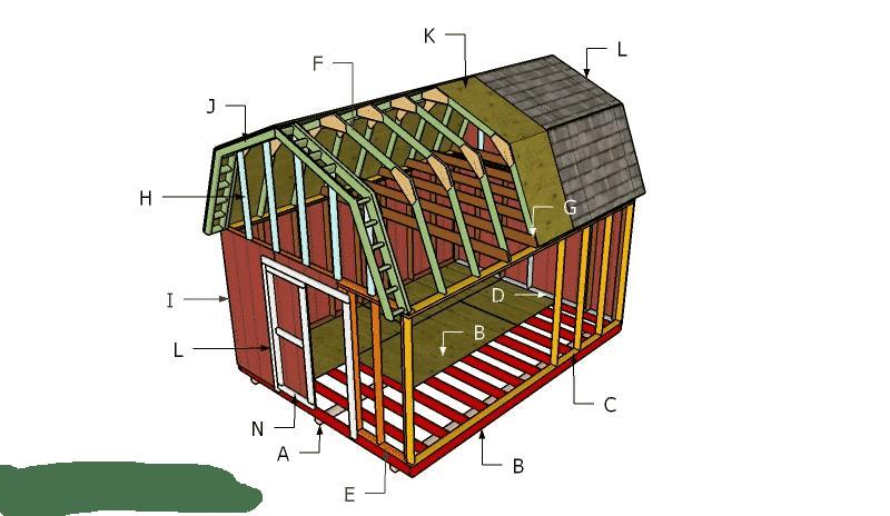 Building a 12x16 barn with loft