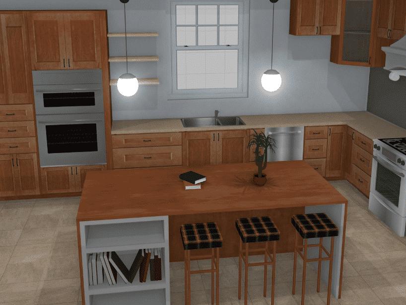 Pro100 kitchen 3D model