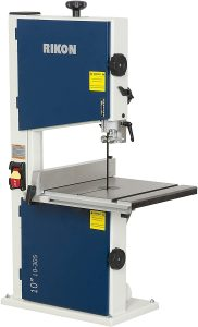 Rikon 10-305 Bandsaw With Fence in Blue and White