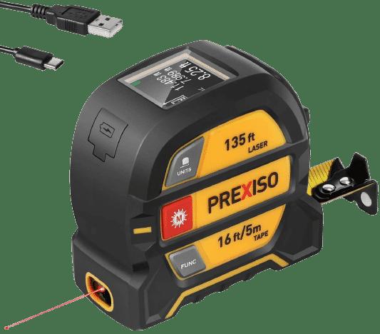Prexiso Laser Tape Measure 2-in-1 Laser Measure