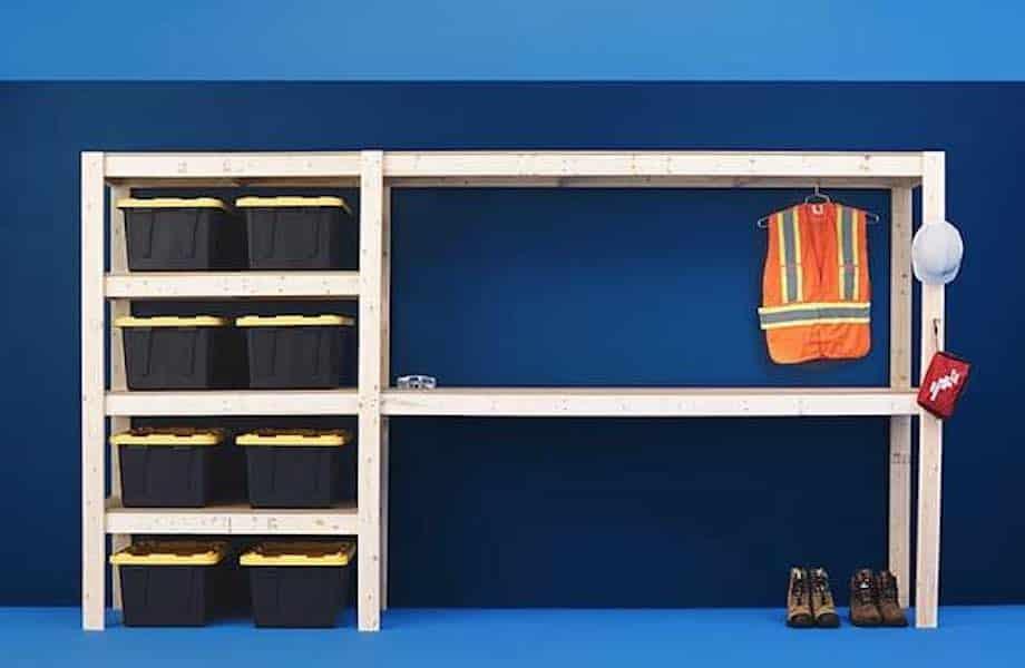 Garage or Workshop Storage Unit Plan
