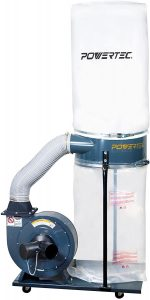 POWERTEC DC1512 Dust Collector with 1.5 HP Motor