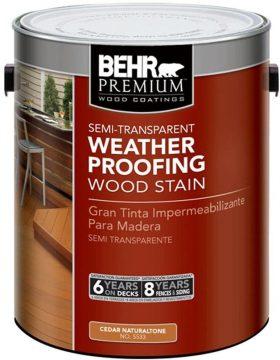 BEHR Premium Semi-Transparent Waterproofing Stain and Sealer