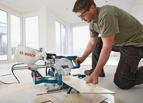 Bosch CM8S demo on a wood