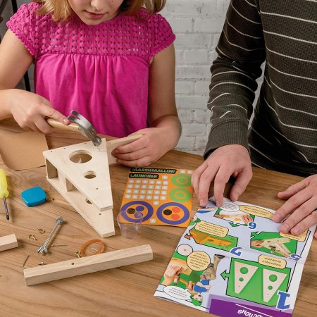 Children using the Young Woodworkers Kit Club