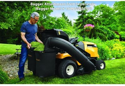 Cub Cadet XT1 Enduro Series Kohler Hydrostatic Gas Front-Engine Riding Mower with bagger attachment