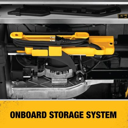 DEWALT 10-Inch Table Saw onboard storage system