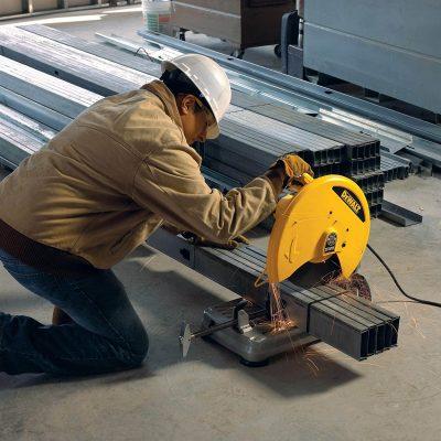 DEWALT Chop Saw used on steel