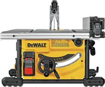 DEWALT Table Saw for Jobsite, Compact, 8-14-Inch (DWE7485) - sideview