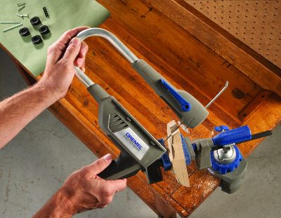 Dremel MS20-01 Moto-Saw Variable Speed Compact Scroll Saw Kit used on wood