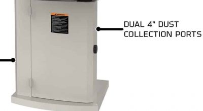 Jet JWBS White Dust Collection Ports