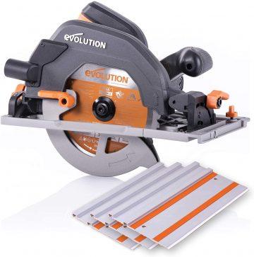 Evolution - 027-0004C Power Tools R185CCSX 7-1.4 inch Multi-Material Circular Track Saw Kit