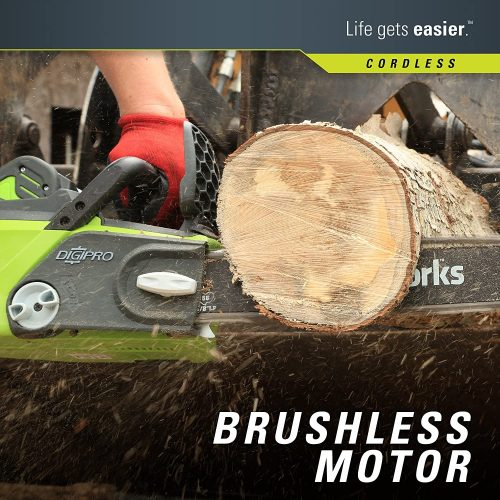 Greenworks G-MAX 40V Cordless Chainsaw - close up