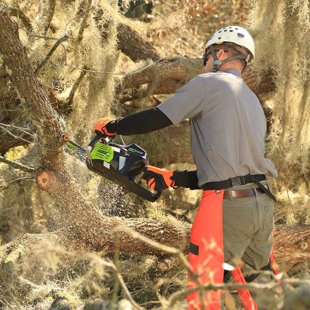 Greenworks PRO 80V 18 inch Cordless Chainsaw - close up