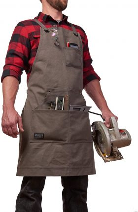 Hudson Durable Goods - Heavy Duty Waxed Canvas Work Apron - close up