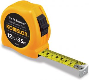 Komelon 49121M The Professional 12-Foot Metric Scale Power Tape