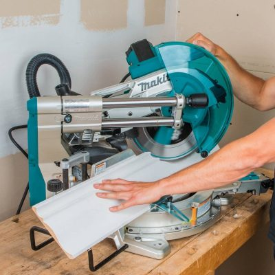 Makita LS1219L cutting in action
