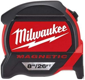 Milwaukee 48227225 HP8-26Mg 27 Magnetic Tape Measure