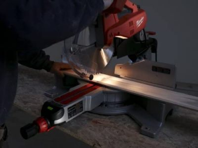 Milwaukee 6955-20 miter saw used on wood