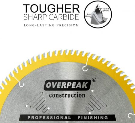 Overpeak 10-Inch Table Saw Blade - close up