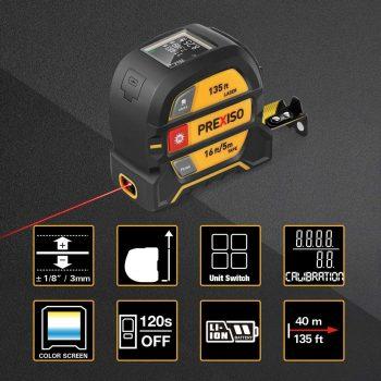 PREXISO Laser Tape Measure - close up