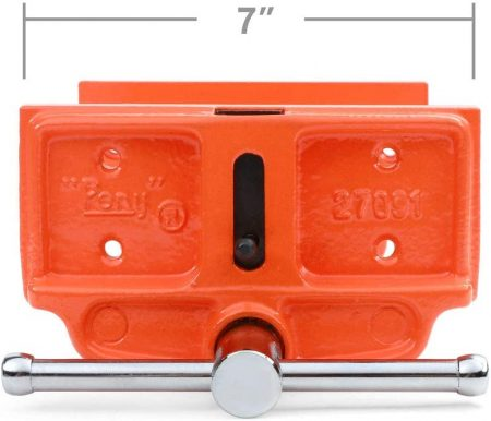Pony 27091 8-Inch by 7-Inch Medium Duty Woodworker's Vise - close up