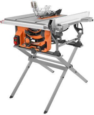 RIDGID 15 Amp 10-inch Table Saw with Folding Stand