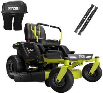 Complete Set of Ryobi RY48ZTR100 Battery Electric Riding Mower