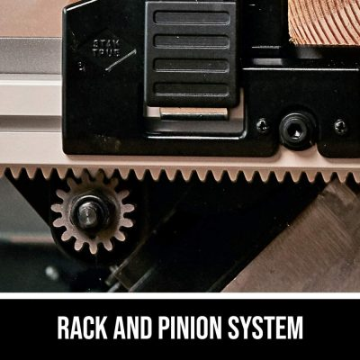 table saw rack pinion system