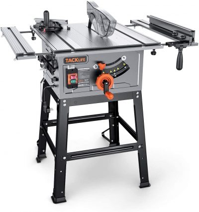TACKLIFE Table Saw 10-inch with Aluminum Extension Table