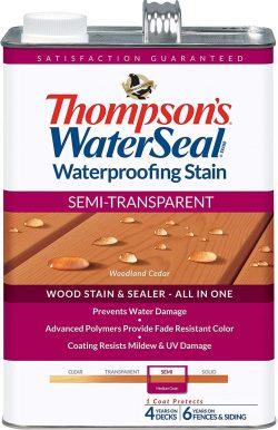 Thompson's WaterSeal Semi-Transparent Waterproofing Wood Stain