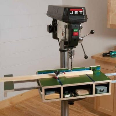 Tricked Out Drill Press Table Plan