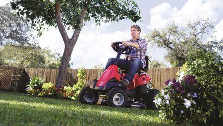 Troy-Bilt 382cc 30-Inch Premium Neighborhood Riding Lawn Mower used on grass