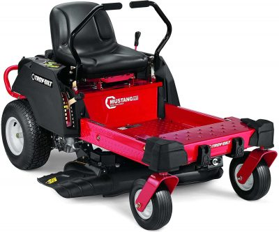 Troy-Bilt Mustang Fit Riding Lawn Mower with 34-Inch Deck and 452cc Engine in Red