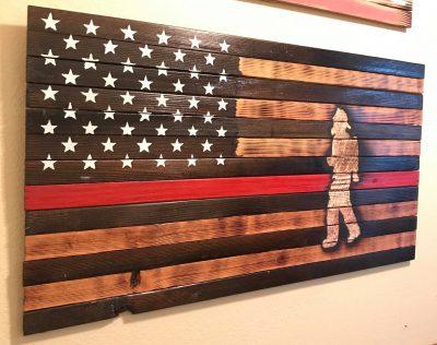 US wooden flag