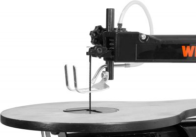 Up close of WEN 3922 16-inch Variable Speed Scroll Saw