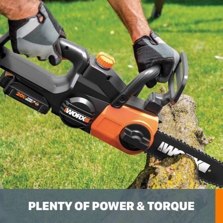 Worx WG322 20V Power Share Chainsaw - close up
