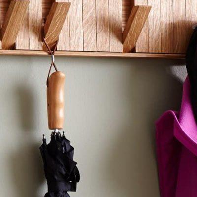 hidden hook coat rack
